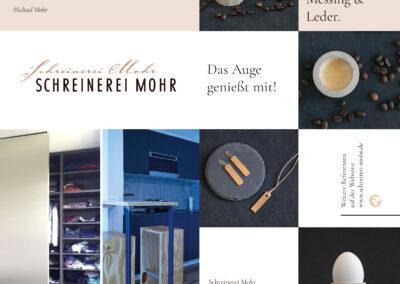 Faltblatt für Schreinerei Mohr, Frankfurt a. Main / Gestaltung, Satz & Druck