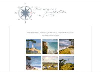 Webseite für Malerin bei Ribnitz-Damgarten