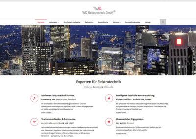 Webseite WK Elektrotechnik GmbH, Frankfurt am Main