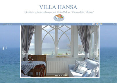 Webseite Villa Hansa in Timmendorfer Strand