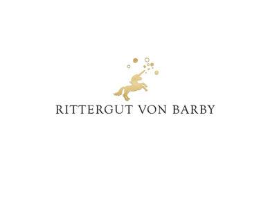 kleines goldenes Einhorn, Markenzeichen für Rittergut von Barby