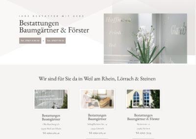 Webseite & Fotos / Bestattungen Baumgärtner in Weil am Rhein